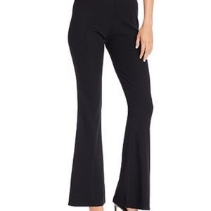 Tiger Mist Black Lucy Ribbed Flare Pants Stretch